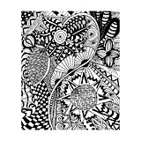zentangle pattern, doodle, Florent style hand draw