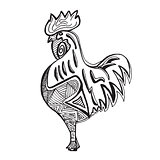 Cock on white background