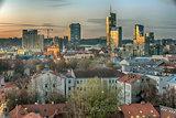 Vilnius, Lithuania: modern skyscrapers of city