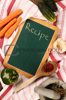 Chalkboard  recipe