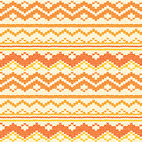 Seamless hand-knitted pattern with white and orange threads.