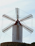 Old Rustic Windmill