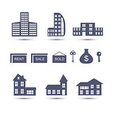 Real Estate vector  icons.