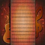 musical background guitar frame