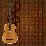 musical background guitar frame clef