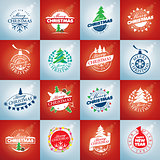 set of vector logo Christmas