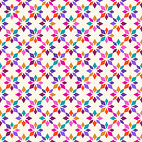 Colorful Plain Vector Seamless Pattern with Geometric Ornament