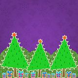 Christmas Retro Greeting Card