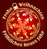 German Merry Christmas and Happy New Year background