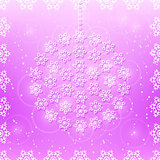 Snowflakes on Purple Seamless Card