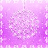 Snowflakes on Purple Seamless Card