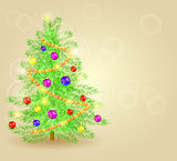 Vector Realistic Detailed Christmas Tree