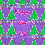 New Year Seamless Pattern.