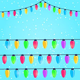 Colorful New Year and Christmas Light Bulbs
