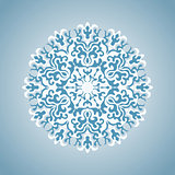 Vector Blue and White Snowflake