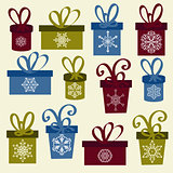 Set of Vector Christmas Boxes