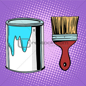 paint brush work painting design