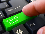 Organic Food - Clicking Green Keyboard Button.