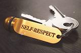 Self-Respect written on Golden Keyring.