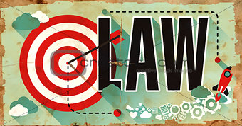 Law on Poster in Grunge Design.