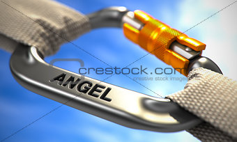 Chrome Carabiner Hook with Angel.
