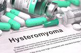 Hysteromyoma Diagnosis. Medical Concept.