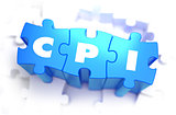 CPI - White Word on Blue Puzzles.