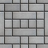 Gray Figured Paving Slabs as Rectangles and Squares.