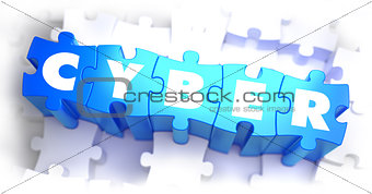 Cyber - White Word on Blue Puzzles.