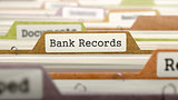 File Folder Labeled as Bank Records.