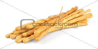 Toasted wheat breadsticks