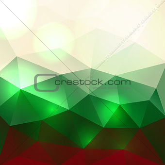 Christmas Colors Abstract Background