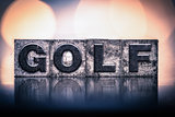 Golf Concept Vintage Letterpress Type