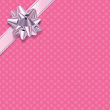 Pink Polka Dot Present Background