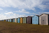 Beach Huts at Dovercourt, Essex, England