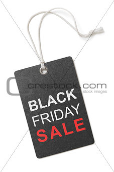black friday sale label or tag isolated