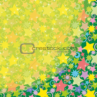 Background, Colorful Stars