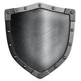 metal medieval shield isolated