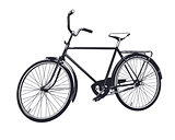 Vector gray bicycle.