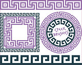 Set 5 Brushes Greek Meander patterns