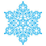 Christmas blue snowflake design - embroidery, lace style