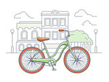 Bicycle on the street illustration