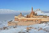 Ishak Pasha Palace in winter seson