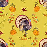 Seamless pattern Thanksgiving
