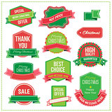 Christmas set - labels, tags and decorative graphic elements