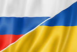Russia and Ukraine flag