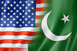 USA and Pakistan flag