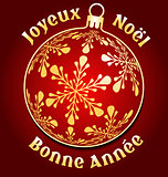 French Merry Christmas and New Year background