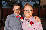 Smiling Bearded Gay Couple