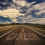 Conceptual Image of Road With the Word Career